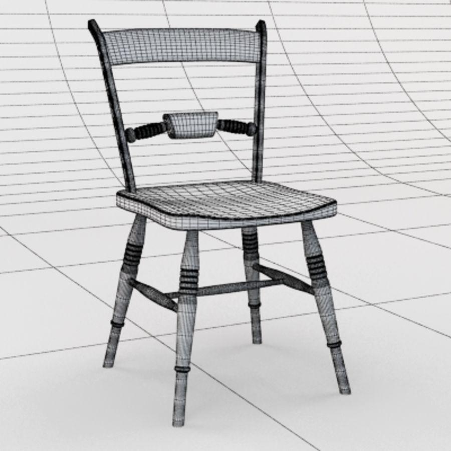 Cadeira de madeira velha royalty-free 3d model - Preview no. 5