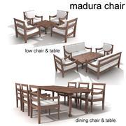Madura Teak Stuhl 3d model