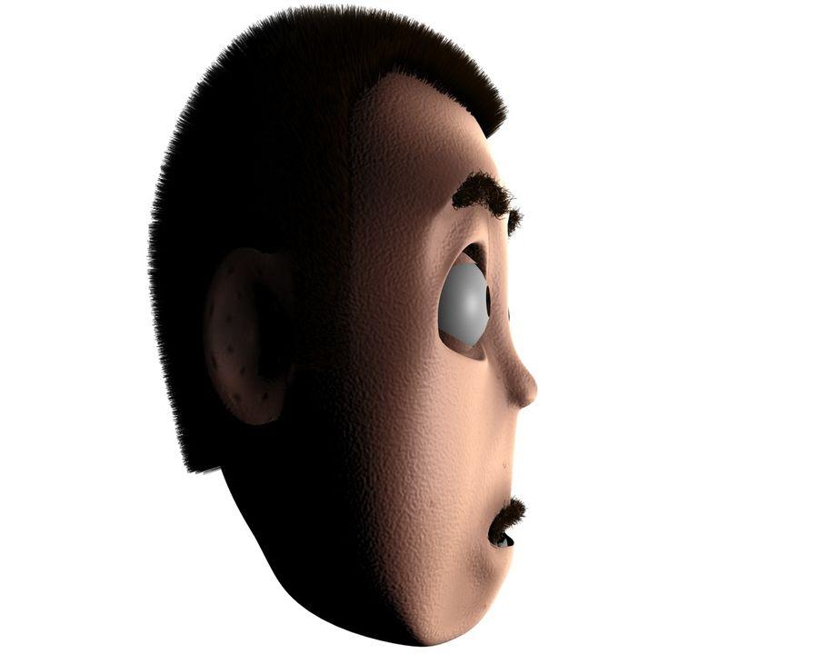 漫画のキャラクターの頭 - チャーリー royalty-free 3d model - Preview no. 3