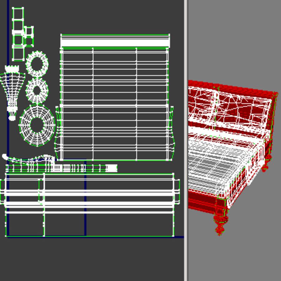 Cama com mesas de cabeceira royalty-free 3d model - Preview no. 21