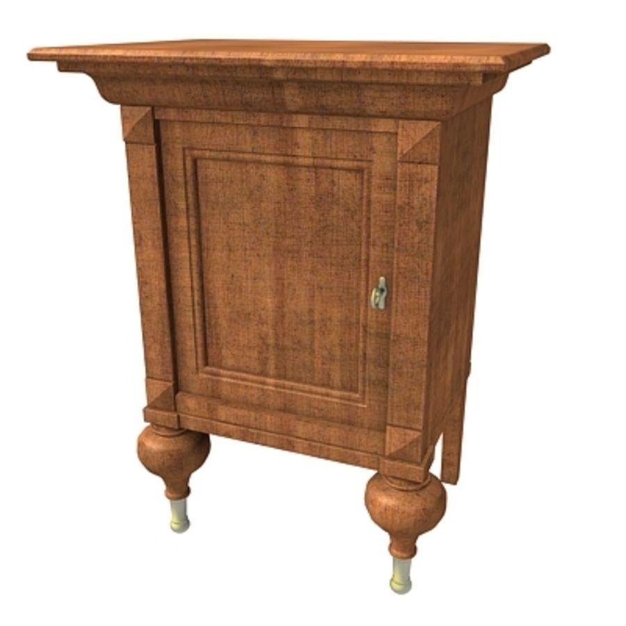 Cama com mesas de cabeceira royalty-free 3d model - Preview no. 6