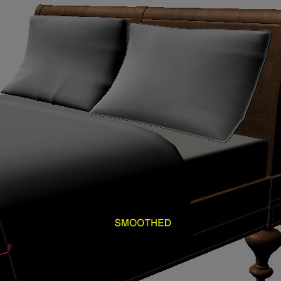 Cama com mesas de cabeceira royalty-free 3d model - Preview no. 9