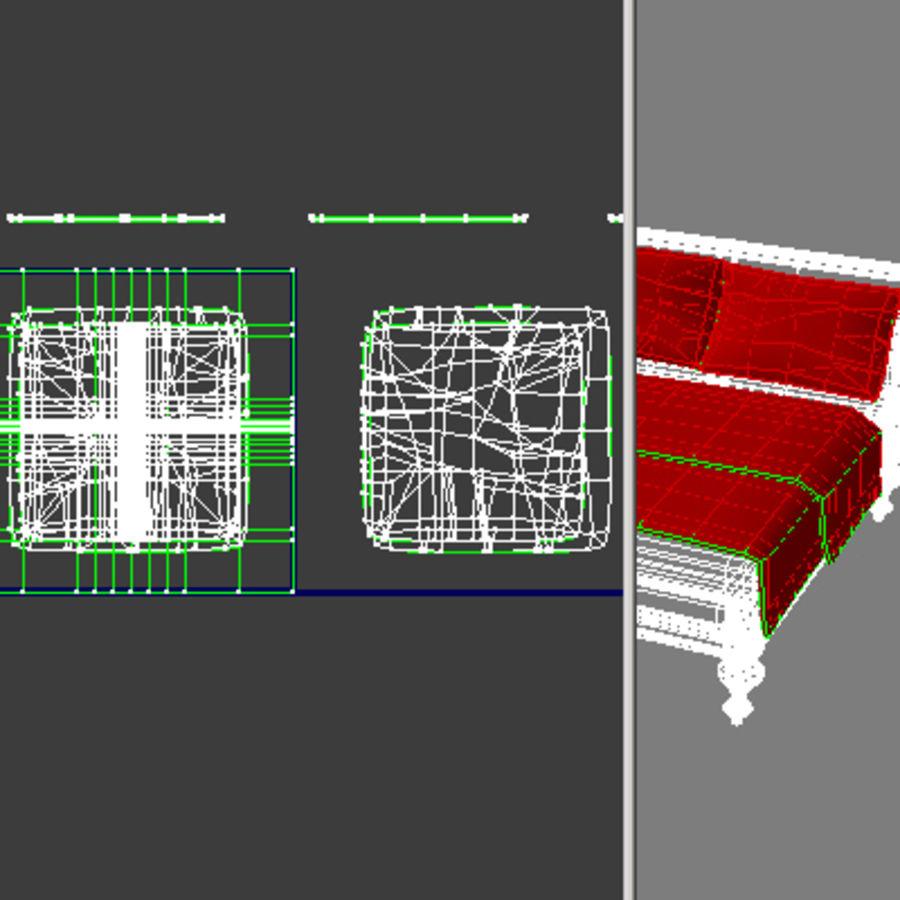 Cama com mesas de cabeceira royalty-free 3d model - Preview no. 22