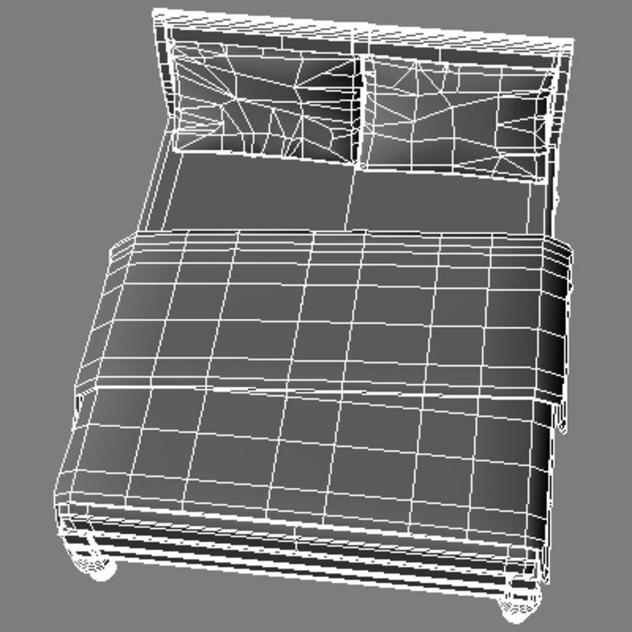 Cama com mesas de cabeceira royalty-free 3d model - Preview no. 20