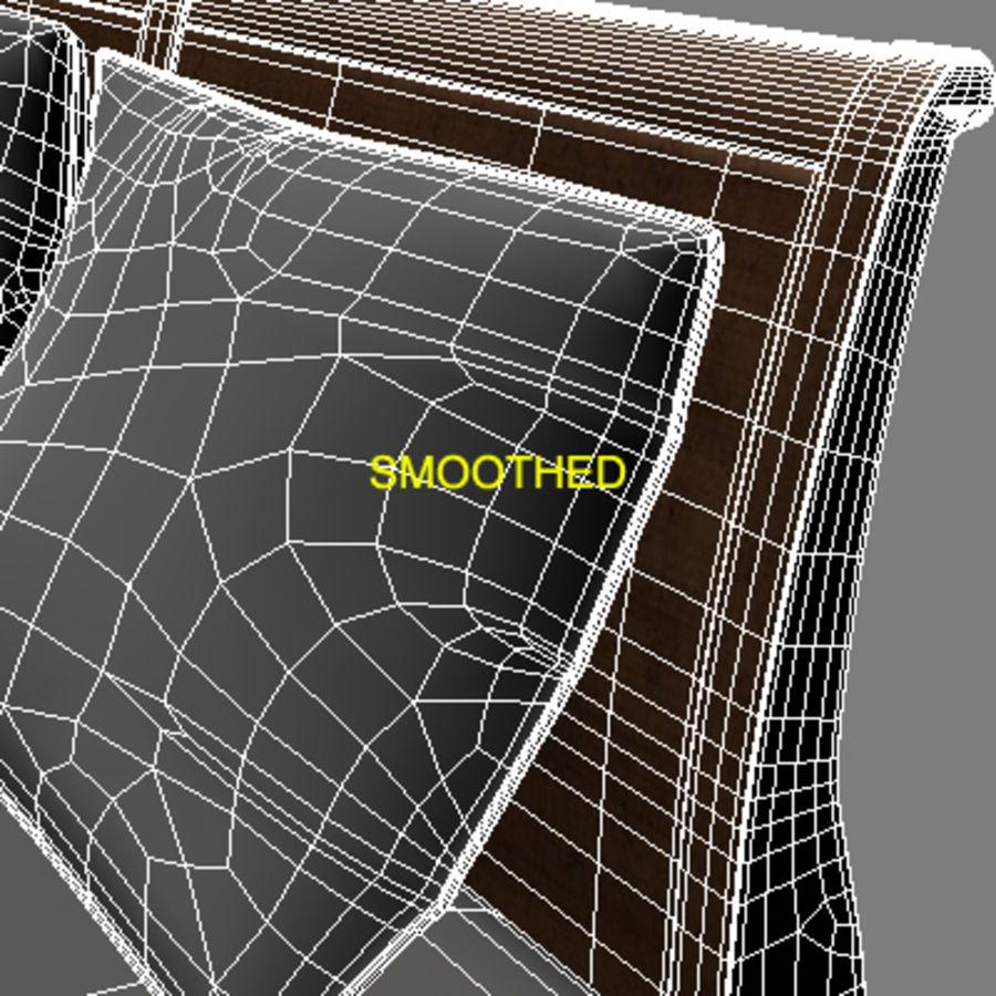 Cama com mesas de cabeceira royalty-free 3d model - Preview no. 13