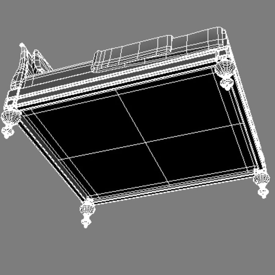 Cama com mesas de cabeceira royalty-free 3d model - Preview no. 19