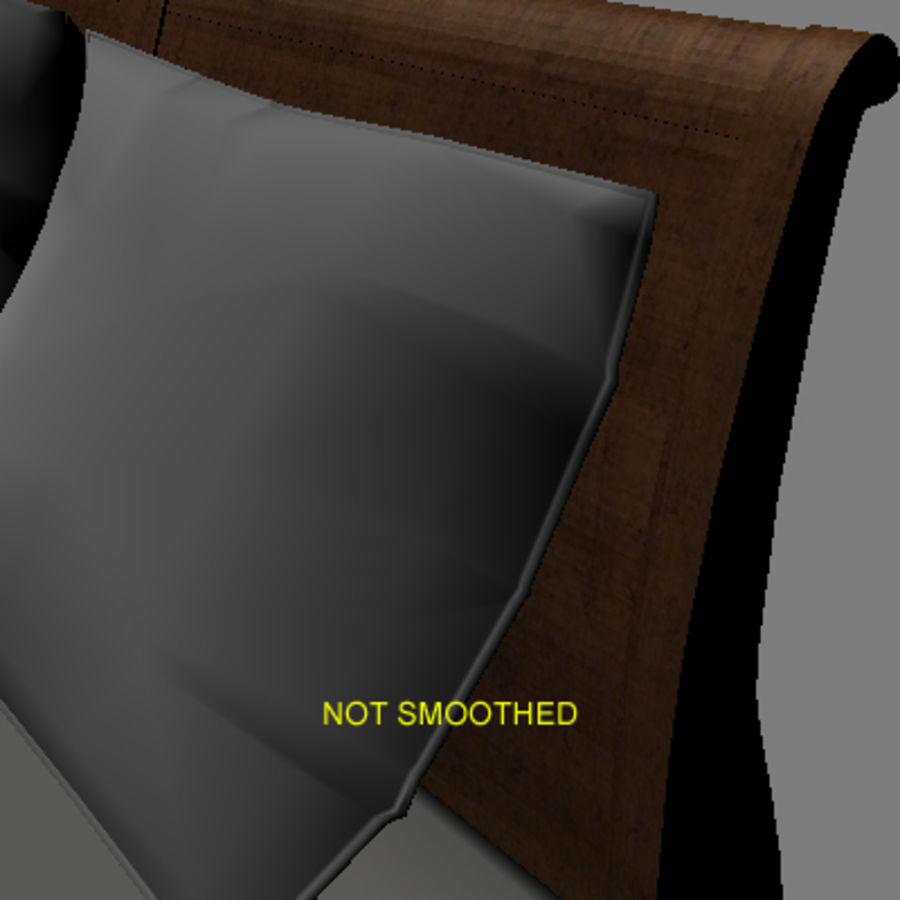 Bed with bedside tables royalty-free 3d model - Preview no. 10