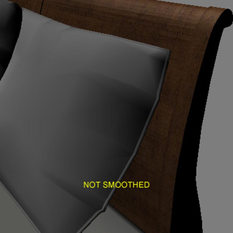 Cama com mesas de cabeceira royalty-free 3d model - Preview no. 10