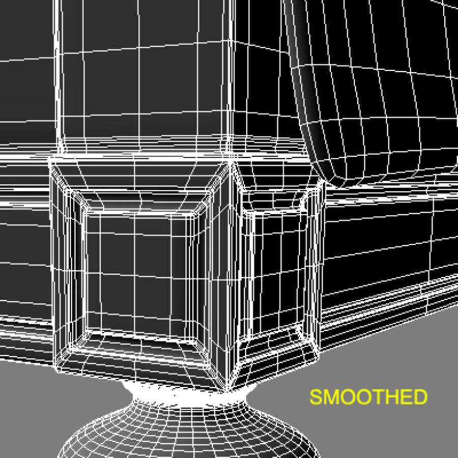 Letto con comodini royalty-free 3d model - Preview no. 15