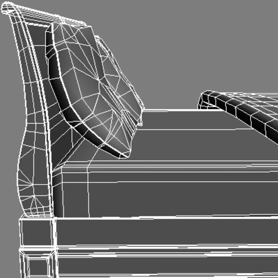 Cama com mesas de cabeceira royalty-free 3d model - Preview no. 17