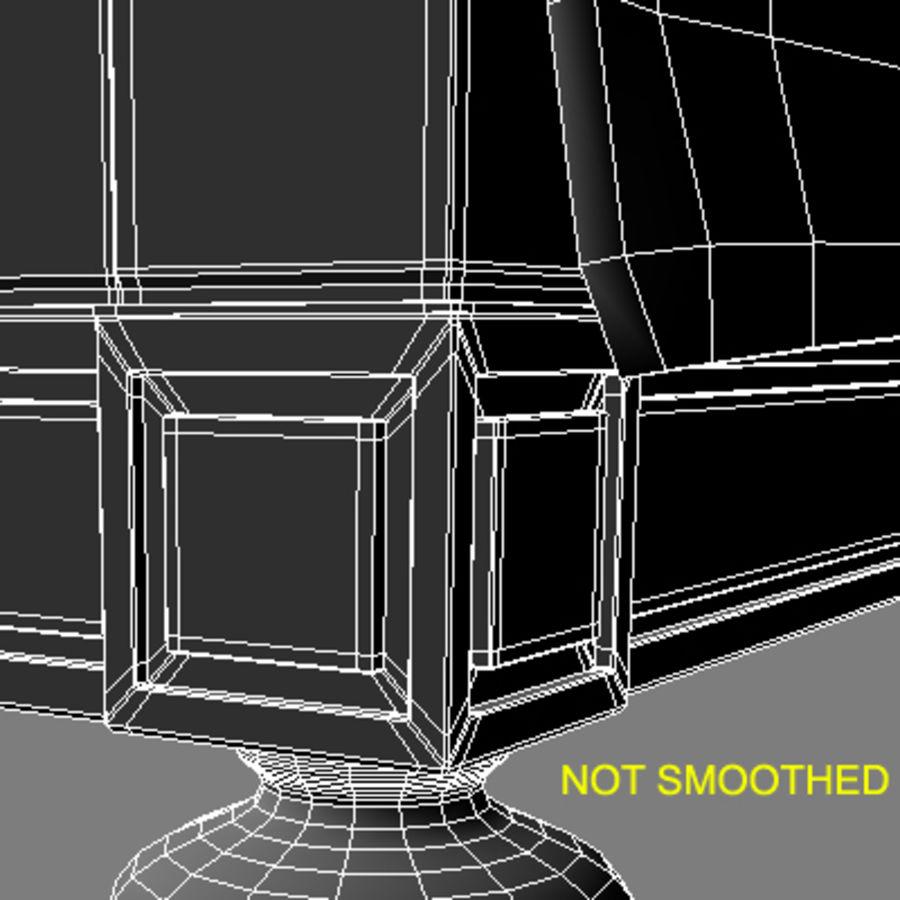Cama com mesas de cabeceira royalty-free 3d model - Preview no. 14