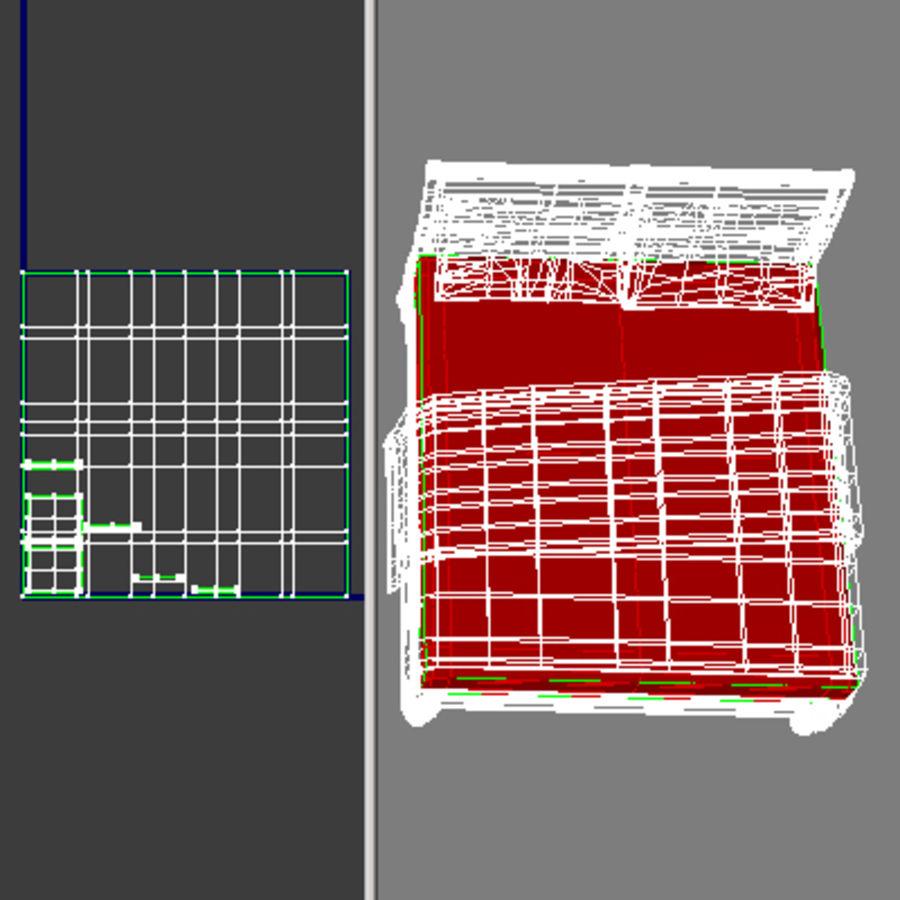 Cama com mesas de cabeceira royalty-free 3d model - Preview no. 23