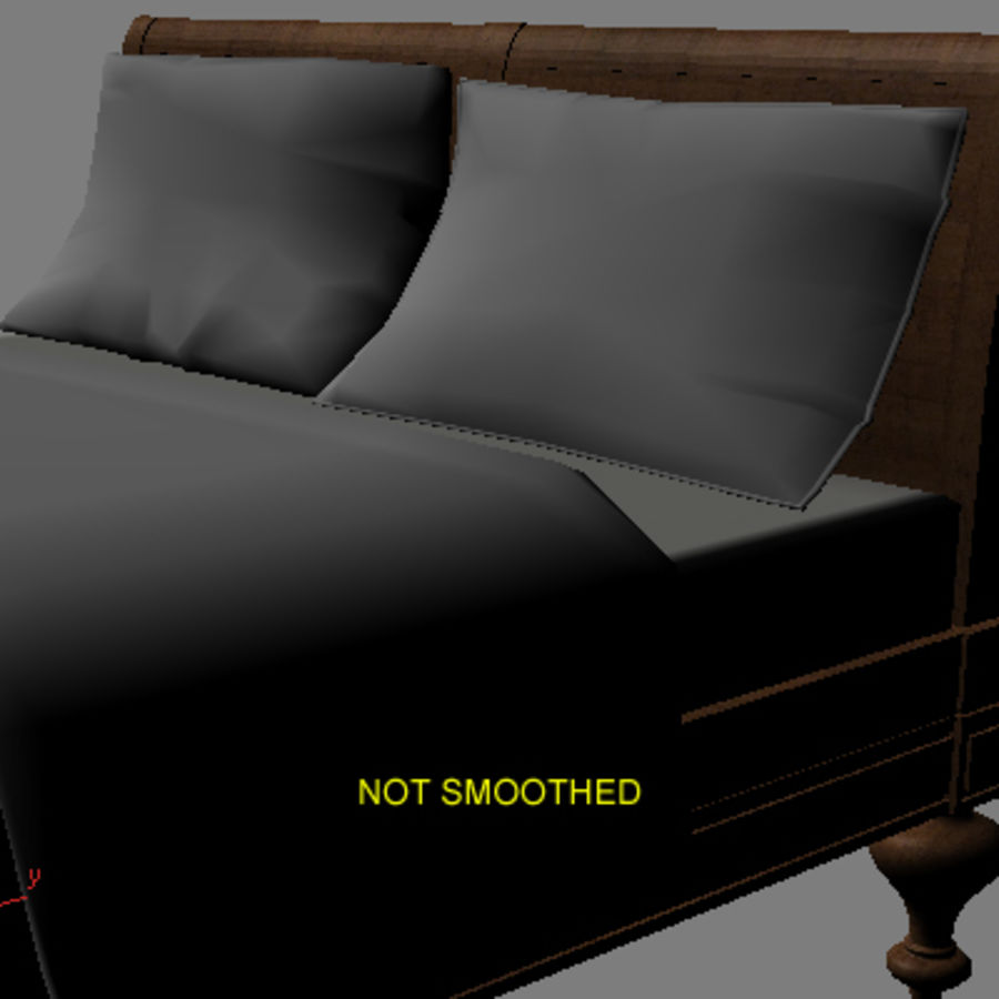 Bed with bedside tables royalty-free 3d model - Preview no. 8