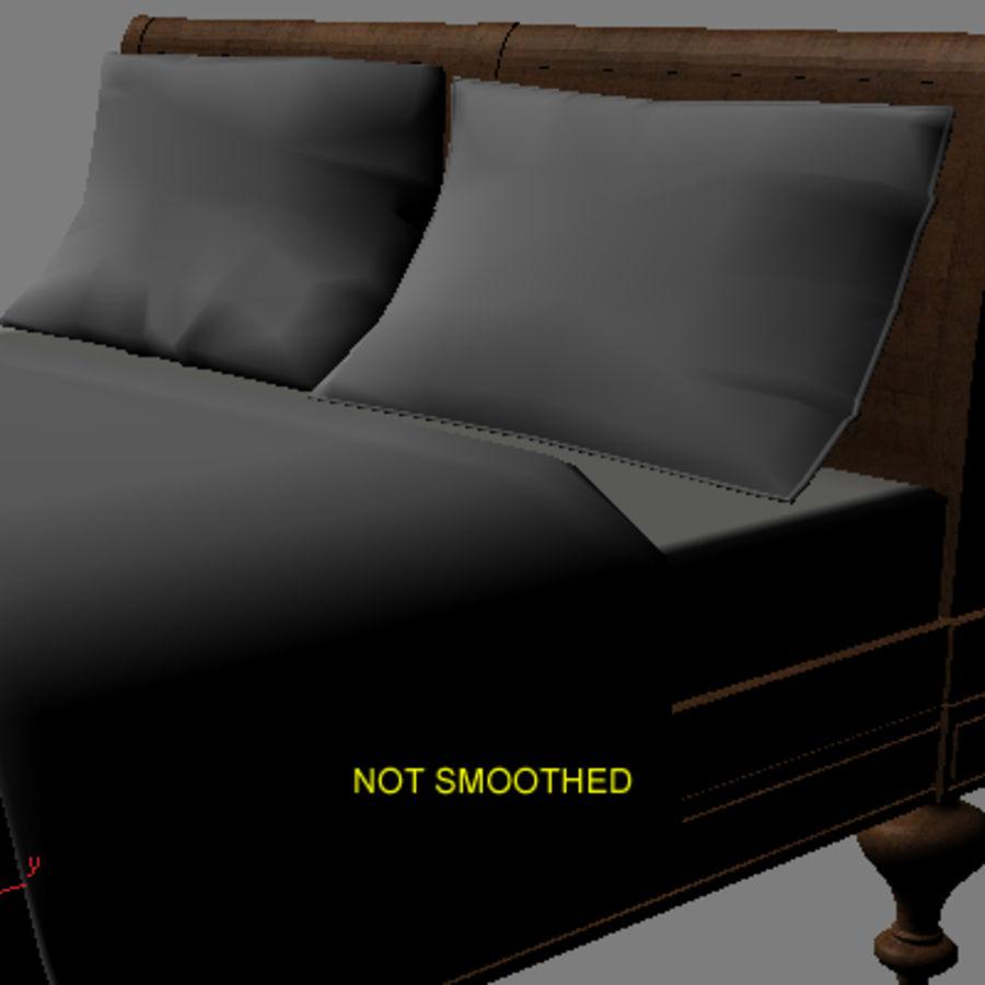 Cama com mesas de cabeceira royalty-free 3d model - Preview no. 8