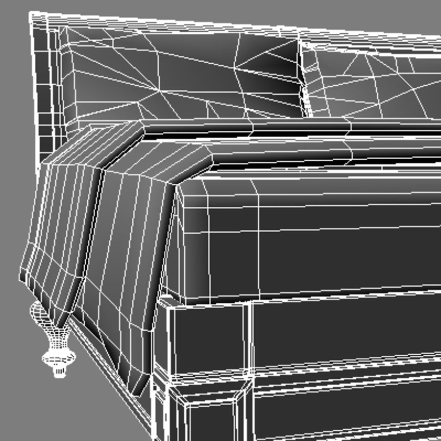 Bed with bedside tables royalty-free 3d model - Preview no. 18