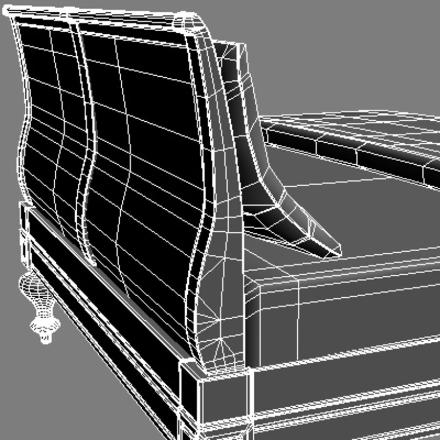 Bed with bedside tables royalty-free 3d model - Preview no. 16