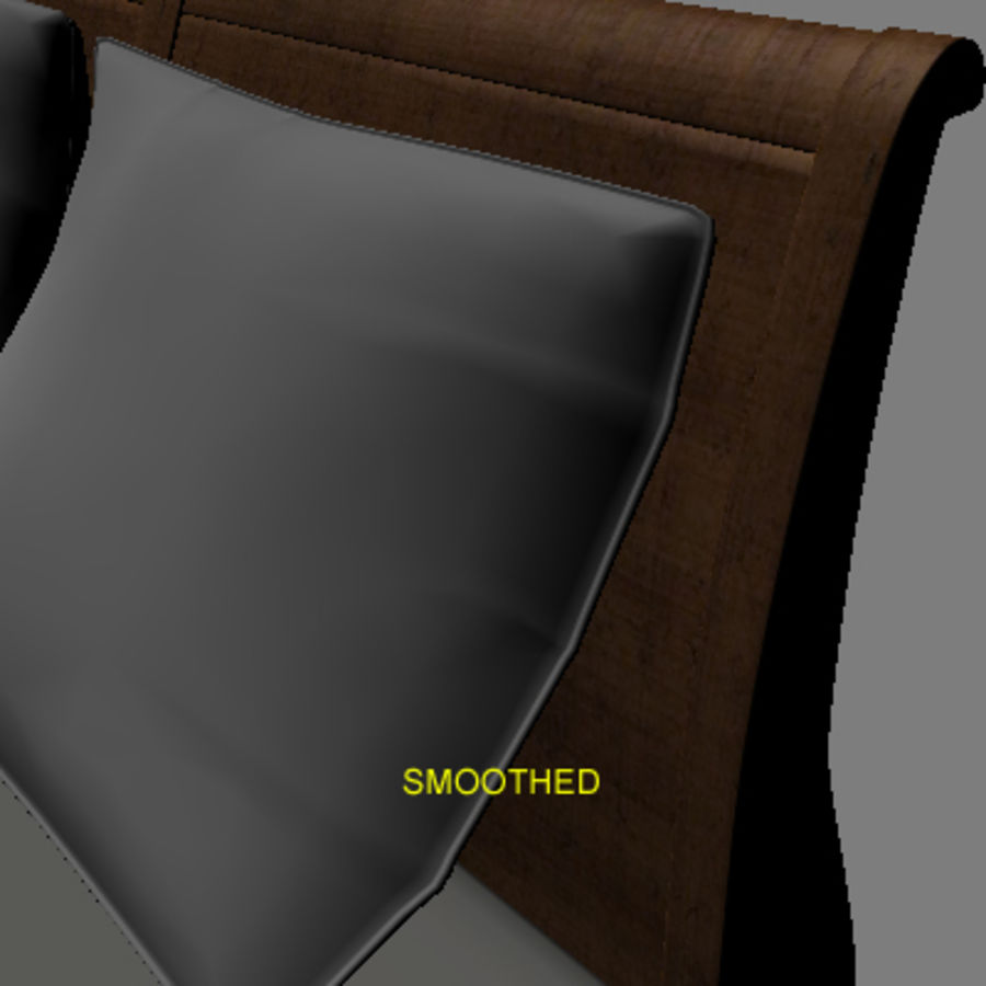 Bed with bedside tables royalty-free 3d model - Preview no. 11