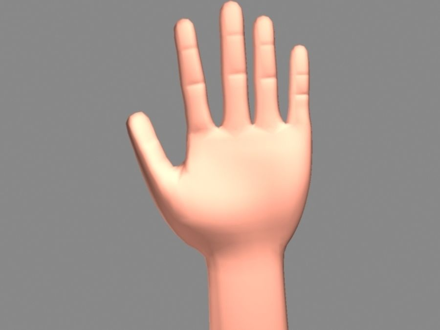 Hand royalty-free 3d model - Preview no. 1