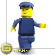 3D Block man 02 3d model