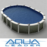 Above ground pool Aqualeader Creation Oval 18 inch 3d model