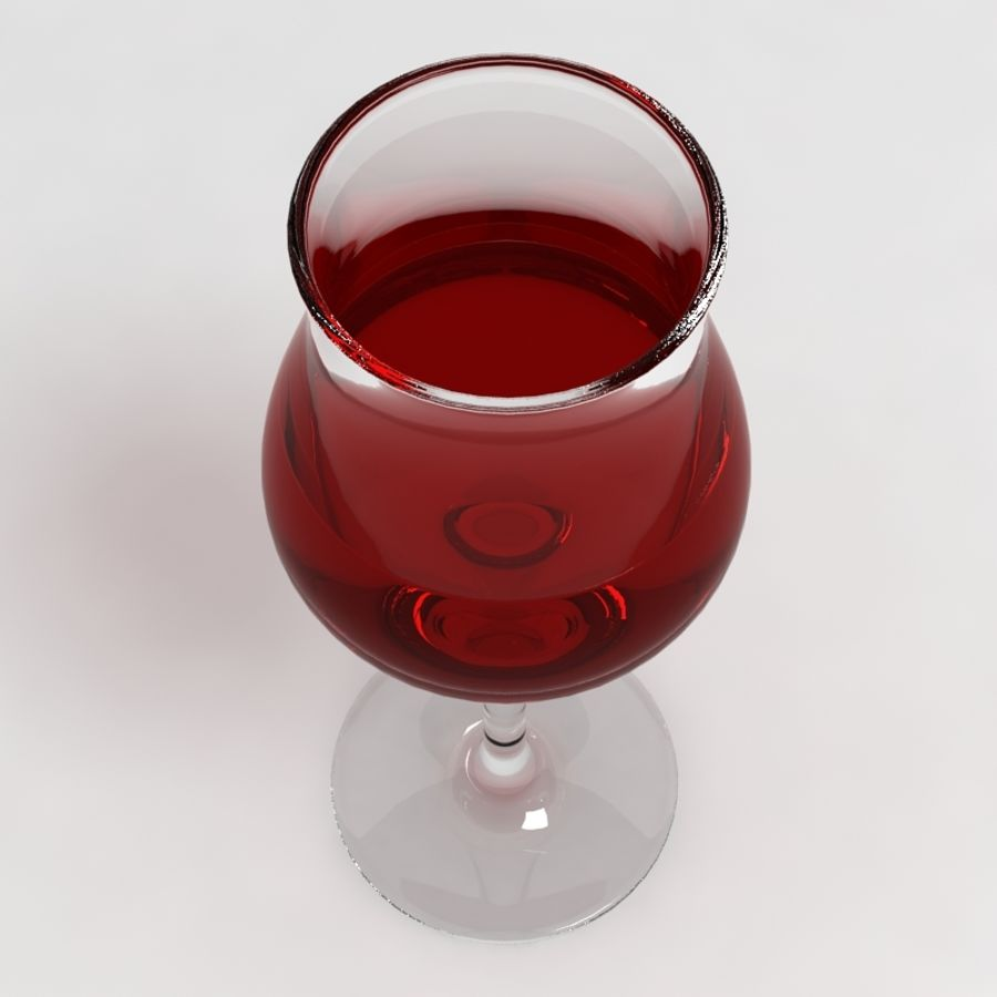 Wine Glass Collection royalty-free 3d model - Preview no. 19