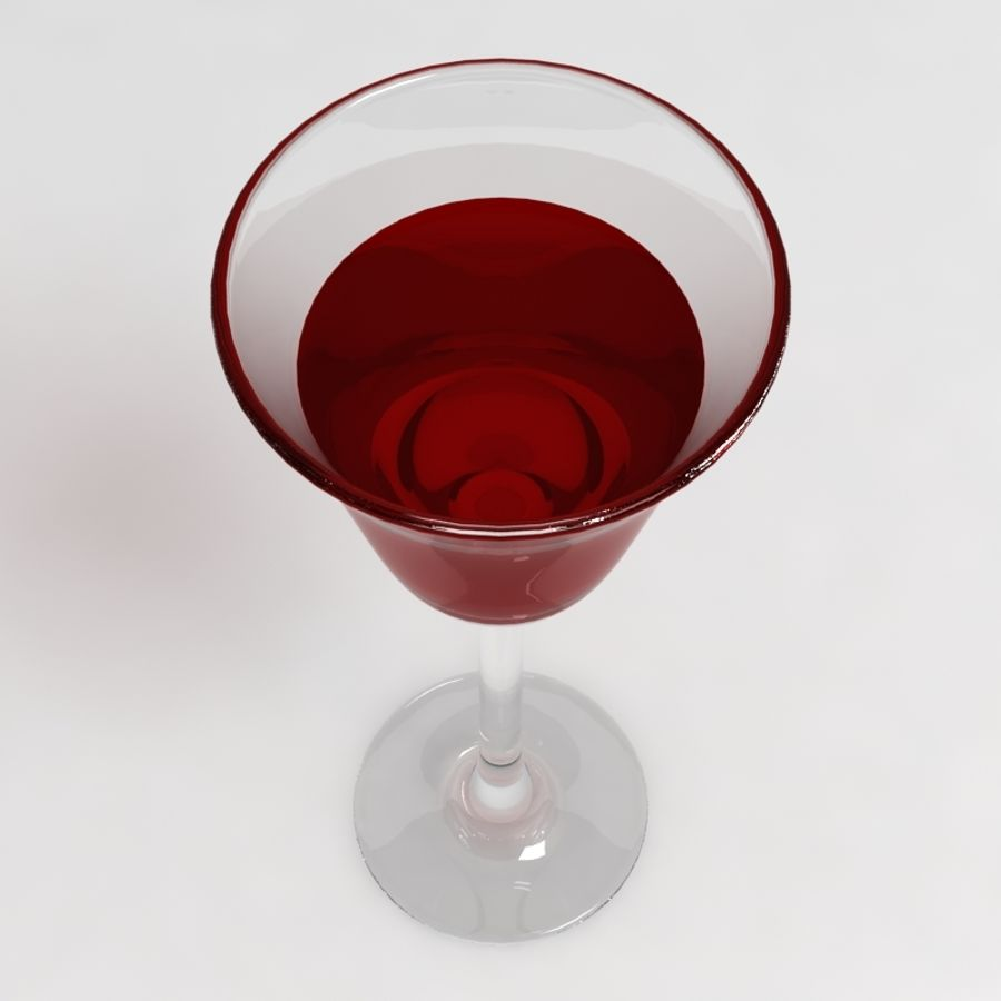 Wine Glass Collection royalty-free 3d model - Preview no. 10