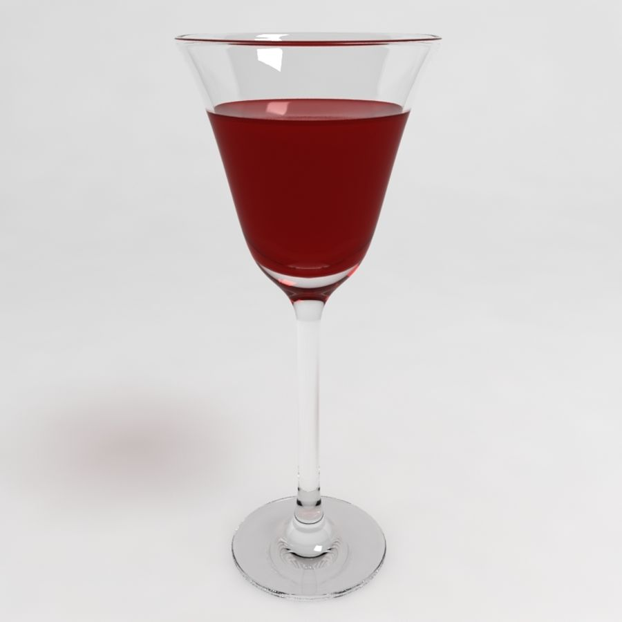Wine Glass Collection royalty-free 3d model - Preview no. 9