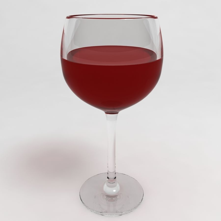 Wine Glass Collection royalty-free 3d model - Preview no. 15