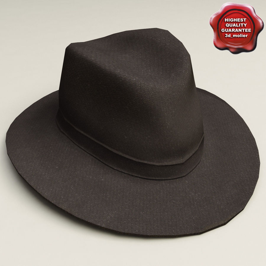 Cappello da cowboy royalty-free 3d model - Preview no. 1