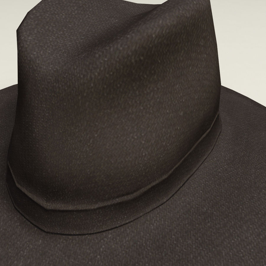 Cappello da cowboy royalty-free 3d model - Preview no. 4