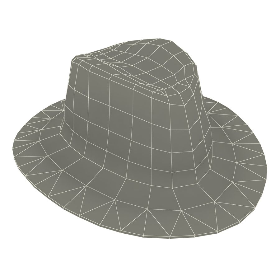 Cappello da cowboy royalty-free 3d model - Preview no. 7