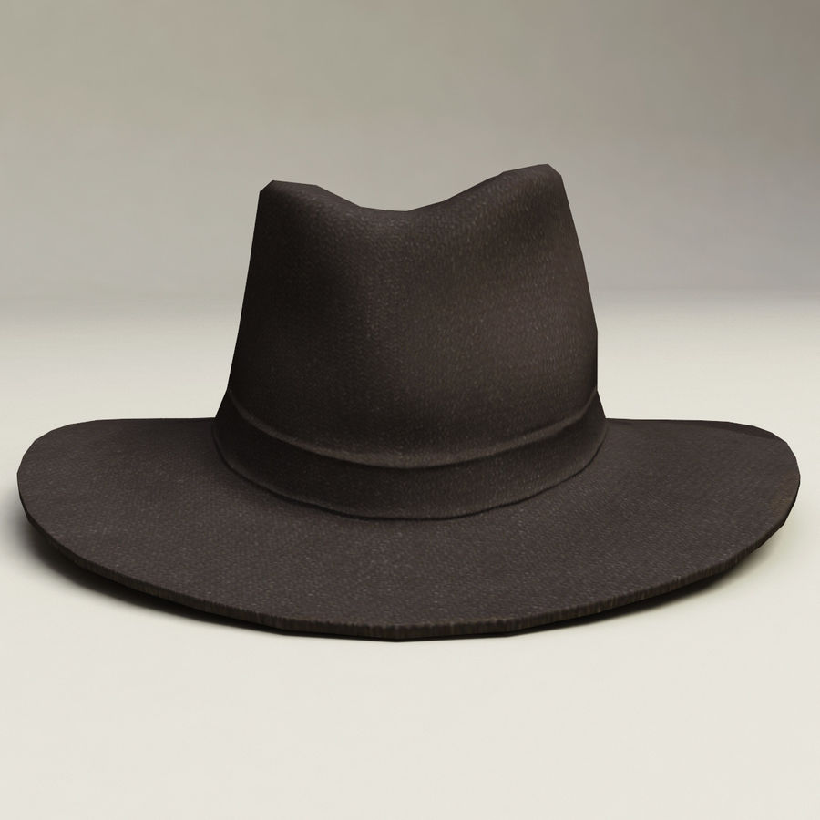 Cappello da cowboy royalty-free 3d model - Preview no. 3