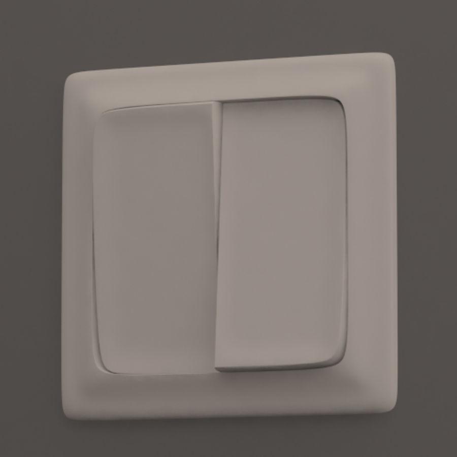 Wspólne włączniki światła royalty-free 3d model - Preview no. 3