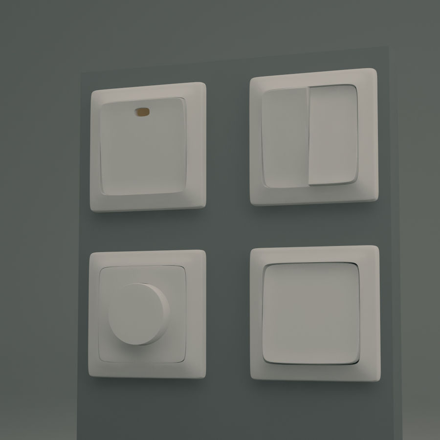 Common Light switches 3D Model $4 - .oth .dae .dwg .3ds .max - Free3D