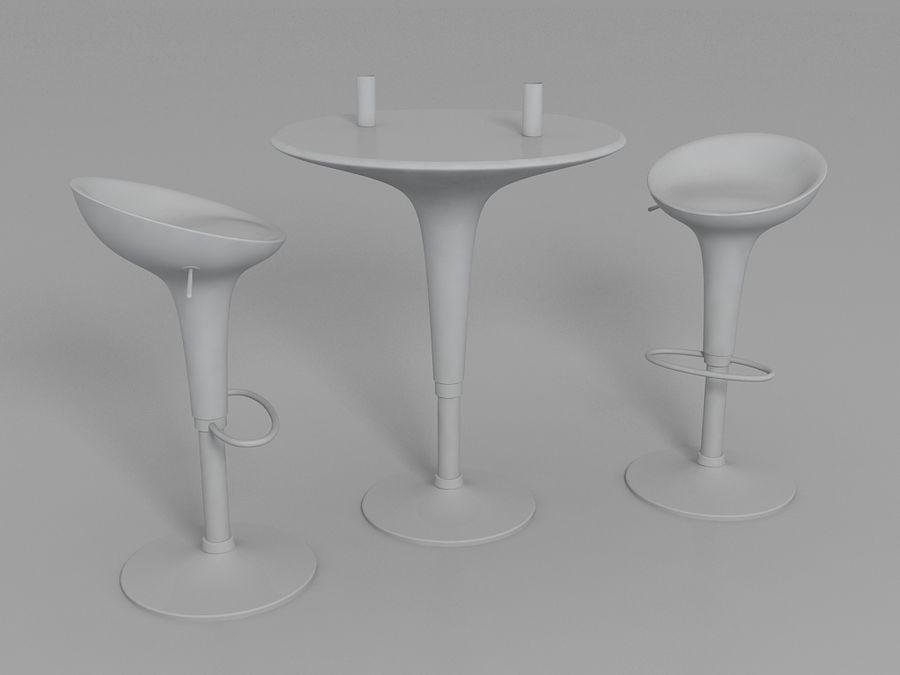 Sgabello e tavolo bombo modello d max free d