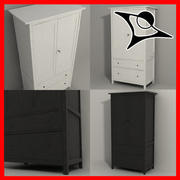 Ikea Hemnes Big Wardrobe 3d model