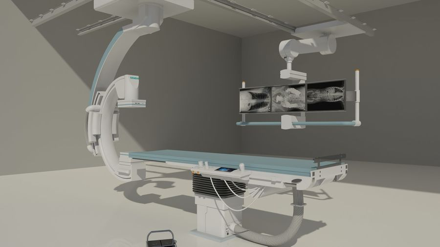 Siemens C-Arm royalty-free 3d model - Preview no. 1