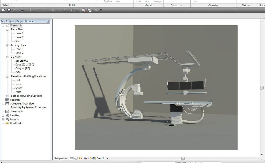 Siemens C-Arm royalty-free 3d model - Preview no. 3