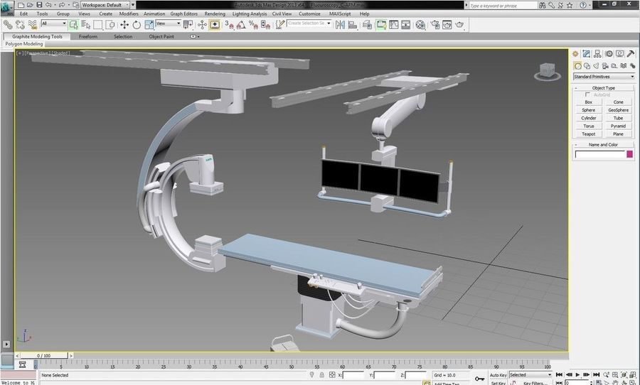 Siemens C-Arm royalty-free 3d model - Preview no. 5