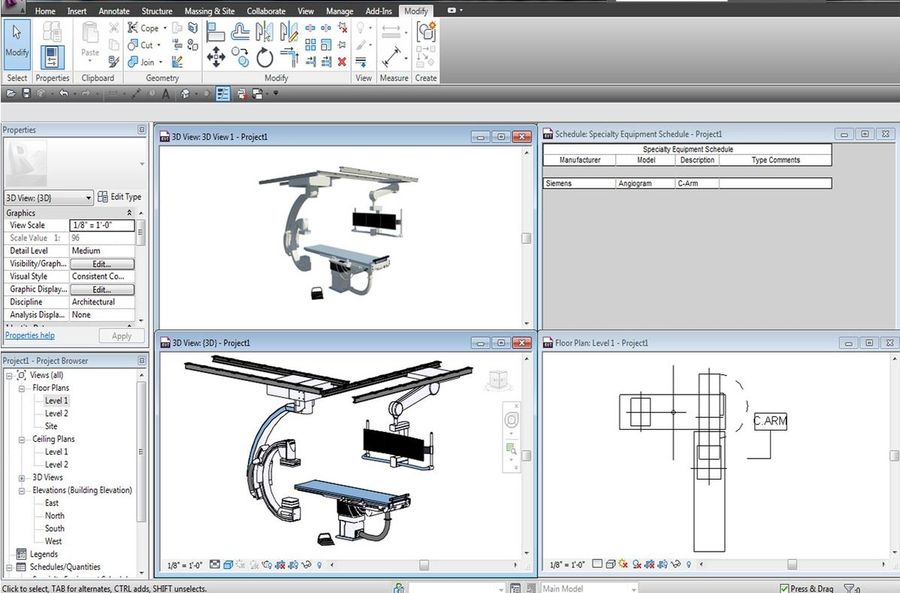 Siemens C-Arm royalty-free 3d model - Preview no. 8