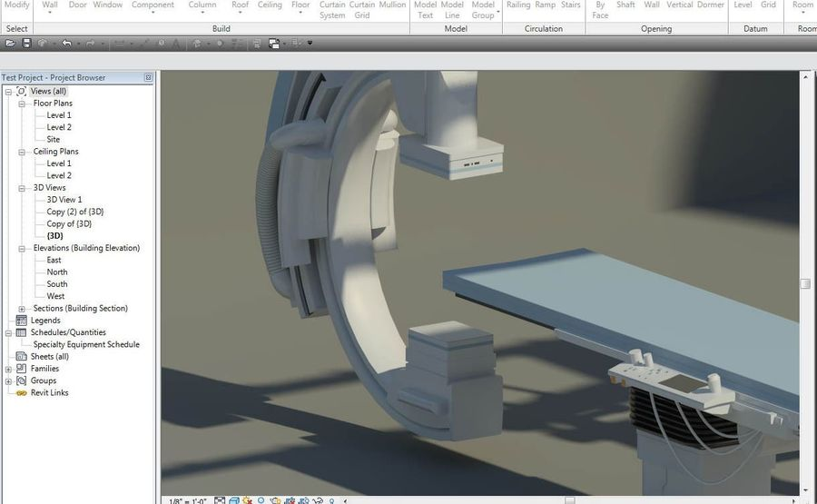 Siemens C-Arm royalty-free 3d model - Preview no. 4