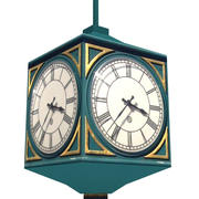 Street clock low poly 3d model