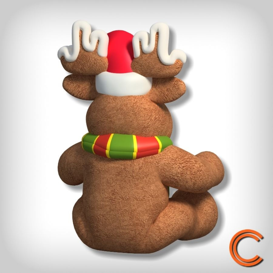 jouet de cerf de Noël royalty-free 3d model - Preview no. 3