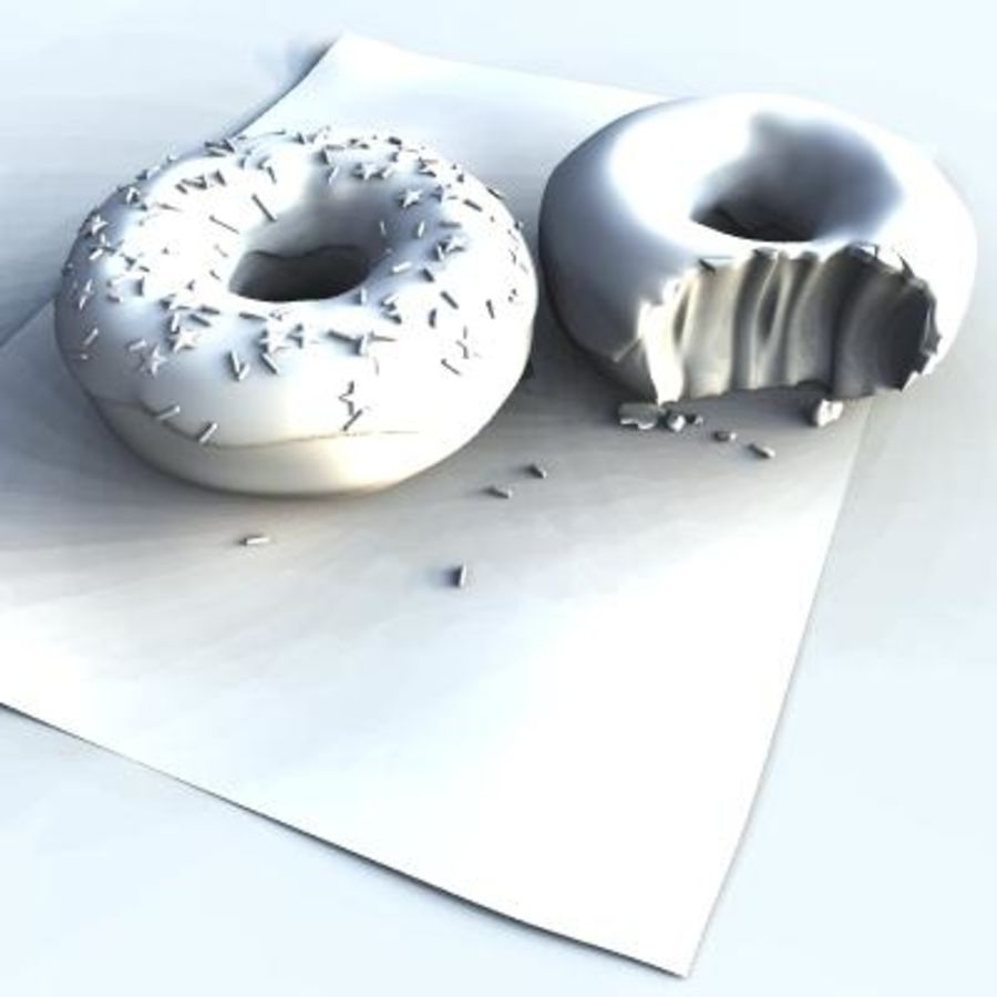 Donuts royalty-free 3d model - Preview no. 4