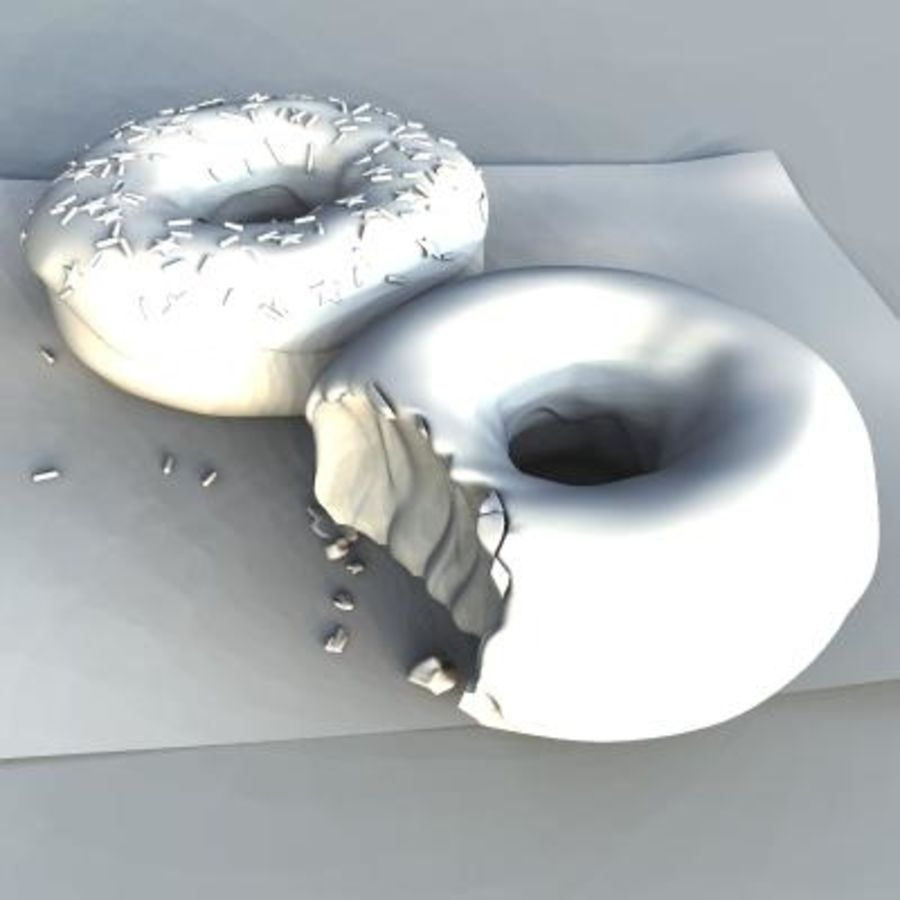 donuts royalty-free 3d model - Preview no. 5