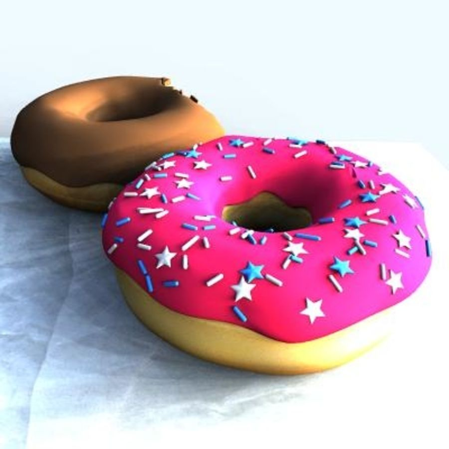 Donuts royalty-free 3d model - Preview no. 2