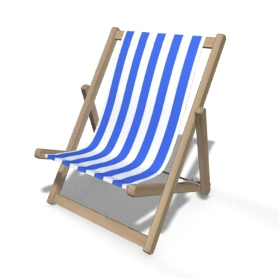 Deck Chair royalty-free 3d model - Preview no. 1