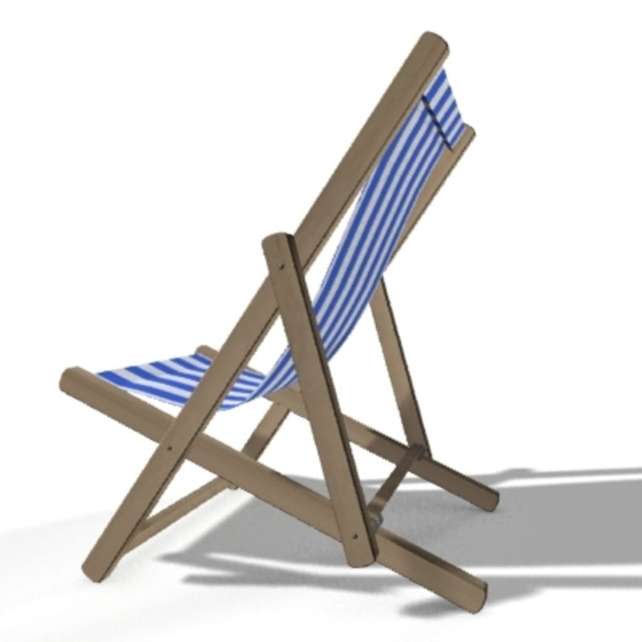 Deck Chair royalty-free 3d model - Preview no. 3