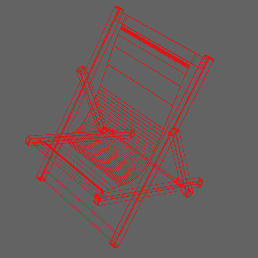 Deck Chair royalty-free 3d model - Preview no. 2