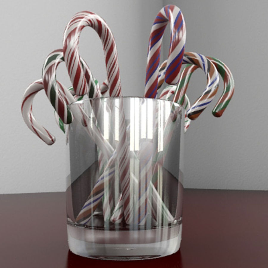 Candy Canes 1 - Candy Canes In Cup - 3ds max 2010 - Mental Ray royalty-free 3d model - Preview no. 5